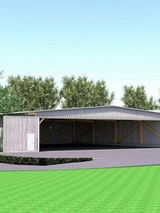 Neue Segelflughalle beim LSC